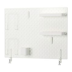 Sk dis pegboard combination white 76x56 cm small storage - Ikea portaoggetti ...
