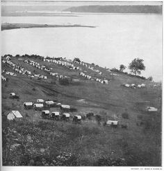 This is the second photo of two taken at Belle Plain. You are viewing the encampment of the First Massachusetts and Second New York Heavy Artillery. .http://pinterest.com/pin/188799409350515328/ is the link to the companion photograph and full information.