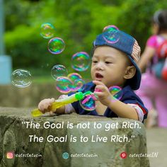 The Goal is not to get Rich.  The Goal is to Live Rich. #Life #LifeQuotes #LifeStatus #Goal #Rich #Live Positive Quotes For Life, Good Life Quotes, Positive Thoughts, Cute Statuses, Life Status, Rich Life, This Is Us Quotes, How To Get Rich, Successful People