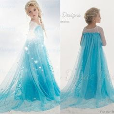 Buy Children Cosplay Dress Ice Princess Frozen Snow Queen Elsa Party Cosplay Costume Dress at Wish - Shopping Made Fun Girls Lace Dress, Girls Dresses, Summer Dresses, Disney Princess Dresses, Disney Dresses, Cosplay Dress, Costume Dress, Elsa Kostüm Kind, Frozen Snow Queen