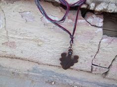 Metal leaf necklace by nrbeadz on Etsy, $15.00