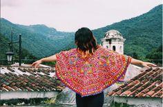 Beautiful ceremonial huipil from the remote region of San Mateo Ixtatan in Huehuetenango, Guatemala.