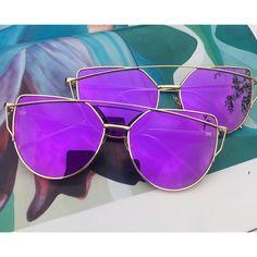 Purple Mirrored Sunglasses
