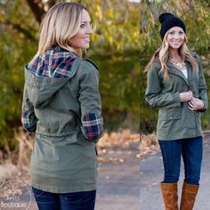 Grab this military jacket with plaid detail for only $28.99!!  Fabulous jacket at an amazing price!