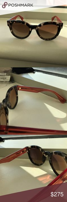 Fendi Sunglasses Tortoise and coral in terms of colors. Acetate frames. Made in Italy. Comes with a wipe and pouch. Reasonable offers are welcomed. Fendi Accessories Glasses