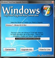 windows 7 anytime upgrade keygen download