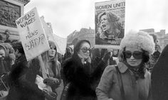 The first National Women's Liberation Movement march in London, 1971. Women's Lib. we used to call it...