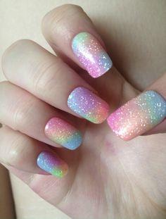 Amazing Nails Art 19 Amazing Rainbow Nail Art Designs Sparkly Rainbow Nail Art Design Source by daintyhooligans Rainbow Nail Art Designs, Unicorn Nails Designs, Ombre Nail Designs, Best Nail Art Designs, Nail Designs Spring, Trendy Nail Art, Cool Nail Art, Nail Art Paillette, August Nails