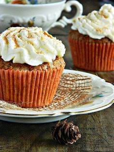 Spiced Carrot Cupcakes!
