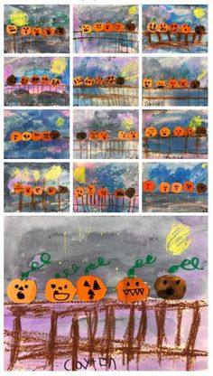 Teen Projects, Halloween Art Projects, Fall Art Projects, Halloween Fun, Kindergarten Art Projects, Kindergarten Lessons, Art Lessons Elementary, Fall Crafts, Holiday Crafts