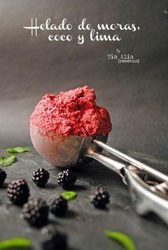 Tía Alia Recetas: Helado de moras, coco y lima [sin heladera]