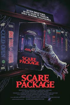 7 tales of terror.' Scare Package is a 2019 American comedy horror anthology feature film being produced by Austin-based genre production company Paper Street … Horror Movie Posters, Horror Films, Horror Art, Cinema Posters, Comedy Movies, Scary Movies, 2020 Movies, Indie Movies, Anthology Film