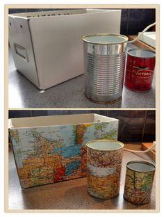 diy decopatch mapobsession dezelfde oude elsevier atlas gebruiken om een kartonnen doos af home office