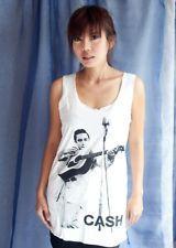 JOHNNY CASH FOLK Music Classic POP ART WOMEN T-SHIRT DRESS Tank TOP Size S M