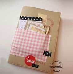 Une petite poche range-tout sur votre agenda by Hobby di carta / A small pocket tidies up everything on your diary