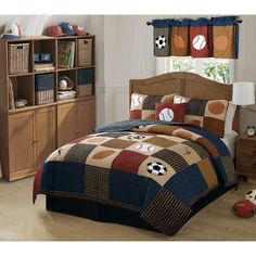 Classic Sports Quilt Set - BedBathandBeyond.com | Tom's room ... : sports quilt bedding - Adamdwight.com