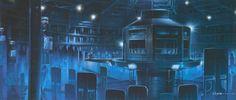Minority Report concept artwork by James Clyne