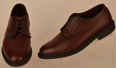 Florsheim mens brown pebbled leather vtg lace up Oxfords Sz 11 EE Pre-owned #Florsheim #Oxfords