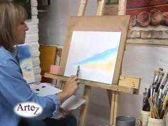 Desde su taller, Gabriela Galano enseña pasos básicos para pintar cielos con diferentes tonos de óleo. Por Artez, arte de la A a la Z, visita www.arteztv.blo...