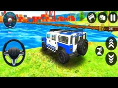 4x4 Police Monster Truck - 4x4 Offroad SUV Monster Truck Simulator - Android Gameplay - YouTube