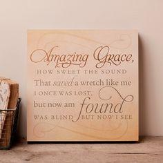 Lyrics for Life - Amazing Grace How Sweet the Sound - Wall Art