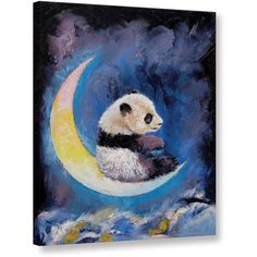 Michael Creese Crescent Moon Gallery-wrapped Canvas Art, Size: 14 x 18, White