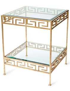 Featuring a Greek-key motif, Ebanista's Jacques side table is a swank interpretation of a classical design