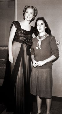 Jeanette MacDonald *singer and actress best remembered for her musical films of the 1930s * and Elizabeth Taylor