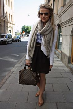 classic - love this from the waist up (particularly the scarf and earrings!)