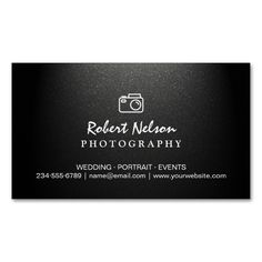 Photography Photographer Camera Simple Matte Black Magnetic Business Cards (Pack Of 25). This great business card design is available for customization. All text style, colors, sizes can be modified to fit your needs. Just click the image to learn more!