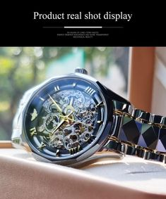 Mens Skeleton Watch, Automatic Skeleton Watch, Automatic Watch, Crystal Box, Synthetic Ruby, Swiss Design, Photo Today, Mechanical Watch, Watches For Men
