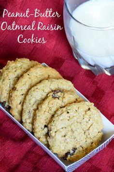 Recipe for peanut butter oatmeal raisin cookies