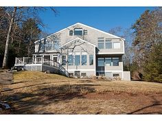 Long Driveway In To This Private Waterfront Home On Triangle Pond! Spend  Your Summer Swimming