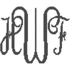 A personal favorite from my Etsy shop https://www.etsy.com/listing/109953667/custom-monogram-cross-stitch-elegant