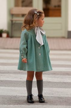 knee socks and swing coat.  So sweet!