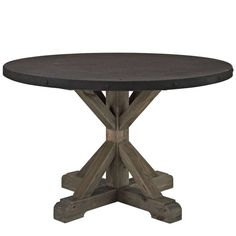 Stitch Wood Top Dining Table in Brown - Modway Furniture - $776 - domino.com