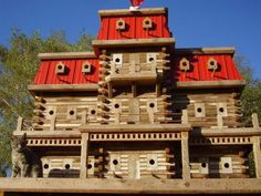 John Looser builds the most amazing birdhouses, inspired by Victorian architecture. His bird mansions are praised by bird lovers everywhere What Is A Bird, Bird House Kits, Crazy Bird, Bird Boxes, Little Birds, Beautiful Birds, Pet Birds, Birdhouses, Birdhouse Ideas
