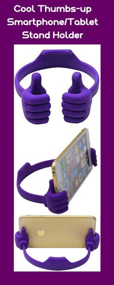 Universal Flexible Thumbs-up Smartphone Stand Holder currentlyon 50% discount!!! #Honsky ® #Thumbs-up #smartphone_stand #tablet_stand #tablet_holder #tablet_stand_holder #smartphone_holder #smartphone_accessories #phone_stand_holder #purple_gadgets #purple_accessories #purple_gifts #office_gifts #gift_for_him #gift_for_her #gift_for_a_colleague #gift_ideas #cool_gifts #cool_gadgets #cool_accessories