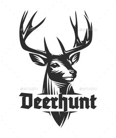 Buy Deer Woodcut Logo Design by mc_design on GraphicRiver. Classic Stag logo design created in the traditional woodcut style. The woodcut / engraving illustration technique com. Logo Musik, Cerf Design, Hirsch Silhouette, Logo Deer, Deer Sketch, Logos Photography, Mises En Page Design Graphique, Logos Vintage, Logos Ideas