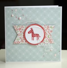 Mit dem Monatskit (leider schon wech)  gehen nicht nur sommerlastige, rosafarbende, Gute-Laune-Karten....  nein, auch meine geliebten Baby...