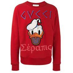 Gucci Donald Duck Sweatshirt Kırmızı - 18 #Gucci #GucciDonaldDuck #Sweatshirt