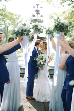Minnesota September wedding. Modern classic bride and groom. Light blue bridesmaids dresses. Navy groomsmen suits. #weddinginspiration #weddingphotography #weddingparty #bride #groom