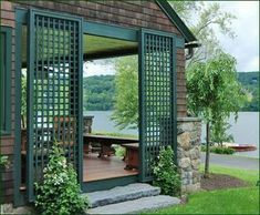 Verde Lattice Panels from Walpole Outdoors. Browse our large selection of lattice panels and panel kits for your climbing plants, outdoor privacy, or architectural elements. Front Yard Fence, Farm Fence, Fenced In Yard, Rustic Fence, Fence Gate, Horse Fence, Front Porch, Fence Landscaping, Backyard Fences