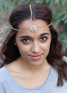 Pink Pewter Authentic 'Cindy' Ivory Over the Head Beaded Headband Stretch Band Hair Jewelry *** See this great product.