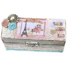 Eiffel Tower Keepsake Box Shabby Chic Jewelry Trinket Box. $35.00, via Etsy.