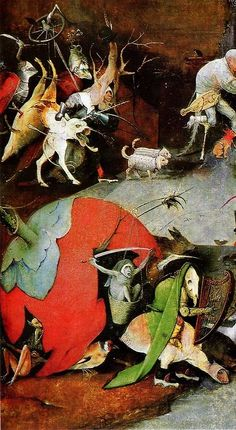 Hieronymus Bosch, Temptations of Saint Anthony detail Max Ernst, Medieval Art, Renaissance Art, Magritte, Hieronymus Bosch Paintings, Temptation Of St Anthony, Arte Tribal, Religious Paintings, Visionary Art
