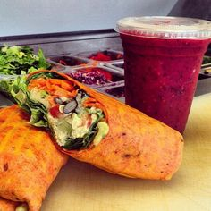 Lunch is served #yum @cravefoodtruckstaug  Oh Happy Thursday  #staugsocial  #staug #staugustine #eatlocal #staugfoodies #florida #crave #wellness #flaglercollege #healthyfood #salad #wrap #smoothie #crave #vegan #paleo #glutenfree #eatclean #freshfood #health #workout #healthyliving #yummy #organic #bulldog #yoga #floridashistoriccoast #fitness #nom @staugustinebuzz