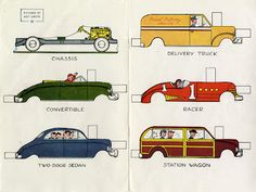 Paper dolls for cars