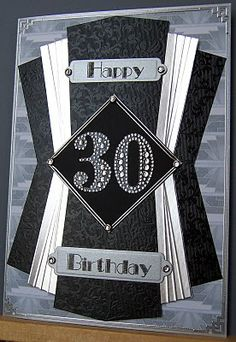 Whitch Craft: Art Deco Birthday card - for a man-could adapt for wedding invite!