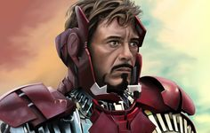 Timelapse Digital Painting of Iron Man